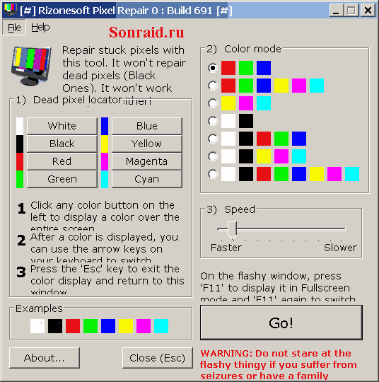Rizonesoft Pixel Repair 0.6.9.691