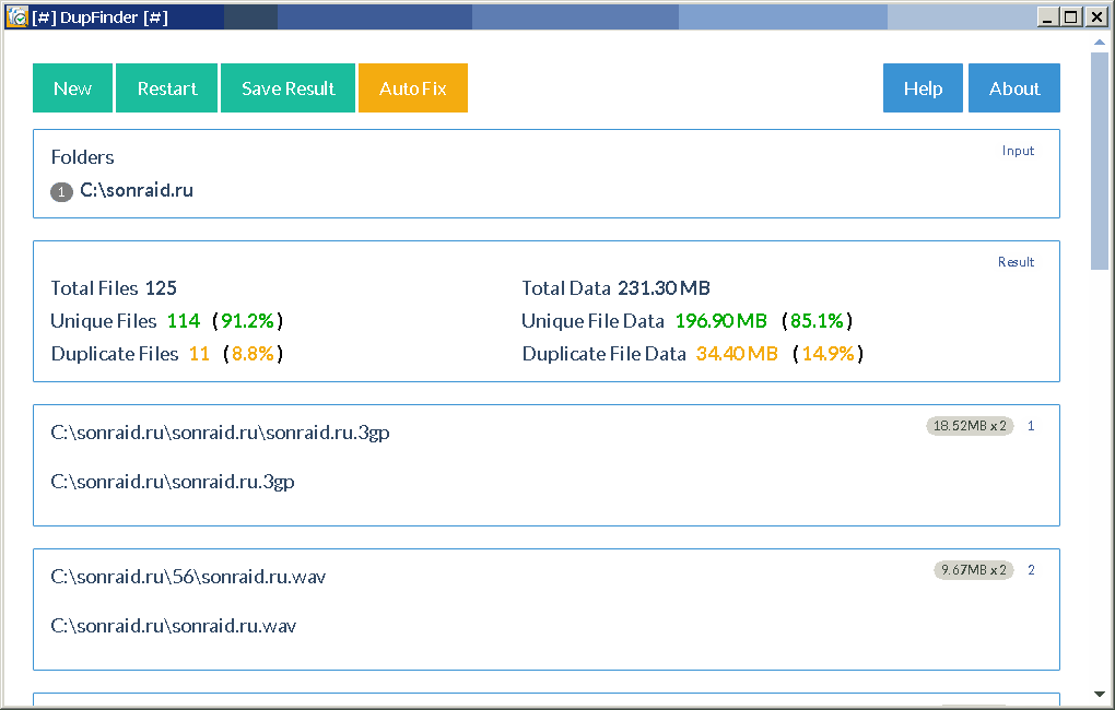 DupFinder 2.0.1 Beta
