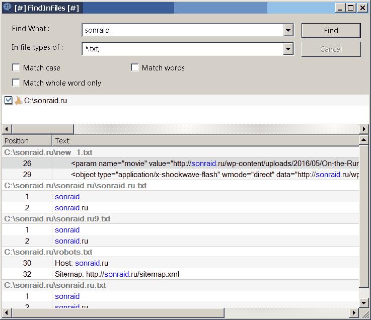 FindInFiles 3.6.23 x64